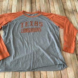 University of Texas longhorns long sleeved tee
